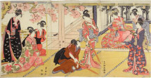 Utagawa Toyokuni I Acting Out a Scene from the Play 'Kagamiyama'