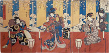 Utagawa Kunisada (Toyokuni III) A Popular Selection of Six Flowers: A Handmade Flower