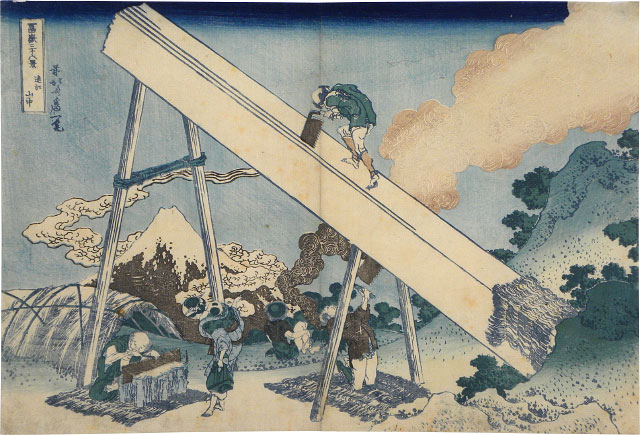 Hokusai, 36 Views of Mt. Fuji - Totomi Mountains