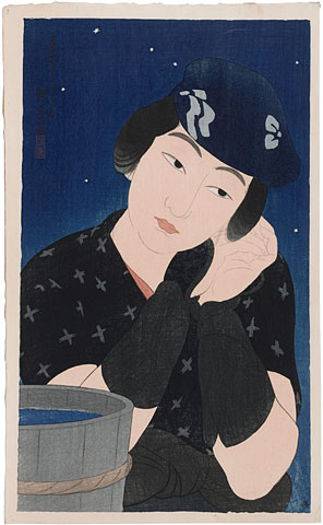 Ito Shinsui, Twelve Images of Modern Beauties: Woman from Oshima Island