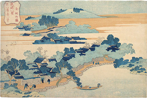 Hokusai, 8 Views of Ryukyu - Bamboo Grove of Sanson