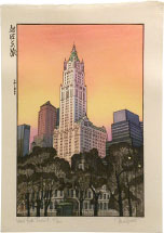 Paul Binnie New York Sunset (The Woolworth Building)