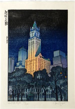 Paul Binnie New York Night (The Woolworth Building), 33/100 (last impression with original sky)