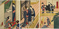 Utagawa Kunisada (Toyokuni III) Poems of the Season: Summer