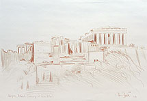 Paul Binnie Acropolis original conte drawing