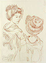Binnie, Eastern Brocade Beauties: Maiko, drawing