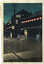 Kawase Hasui Soemoncho District in Osaka