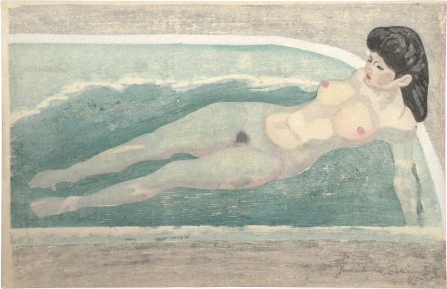 Junichiro Sekino, Nude in Bath