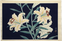 Kawase Hasui Golden-banded Lilies