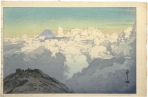 Hiroshi Yoshida The Southern Japan Alps Series: From the Summit of Komagatake (green-blue variant)