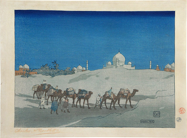 Charles W. Bartlett, Agra- Caravan at Night