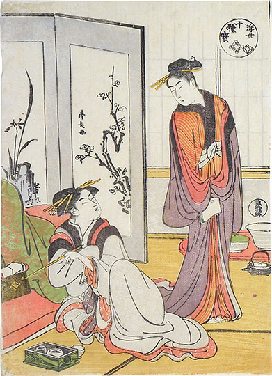 Torii Kiyonaga, Ten Magical Treasures of the Floating World: Linked Treasures