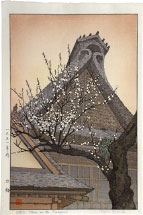Toshi Yoshida White Plum in the Farmyard