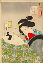 Tsukioka Yoshitoshi Warm, An Urban Widow of the Kansei era [1789-1801]