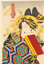 Tsukioka Yoshitoshi Feminine, The Appearance of a Castle-Toppler of the Tempo Era [1830-1844]