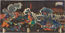Tsukioka Yoshitoshi Picture of the Battle of Odai Castle in Shinano Province