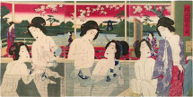 Yoshu Chikanobu View of  Modern Hotspring