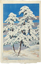 Kawase Hasui Clearing After a Snow in the Pines