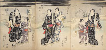 Utagawa Kunisada (Toyokuni III) Kabuki Actors Enjoying the Evening Cool