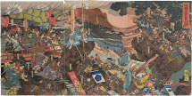 Utagawa Kuniyoshi The Battle of Kasagi Castle in Yamashiro Province