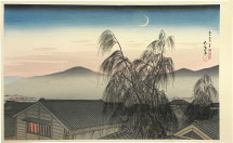 Hashiguchi Goyo Evening Moon at Kobe