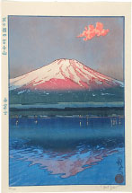 Paul Binnie Red Fuji, Fuji from Lake Kawaguchi