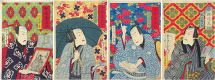 Utagawa Kunisada III (Hosai) Stylish Accomplished Sarasa Textiles
