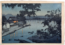 Hiroshi Yoshida Evening on the Chikugo River, Hita