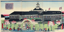 Utagawa Hiroshige III (Ando Tokubei) View of Foreigner's Mansion in Yokohama