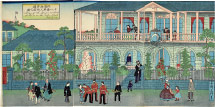 Utagawa Hiroshige II (Rissho) Plan of the Foreigners Residents at No. 18 on the Water Street, Yokohama