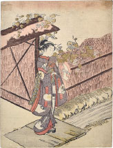 Suzuki Harunobu Parody of the Yugao Chapter of the Tale of Genji