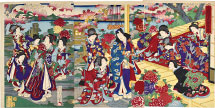 Yoshu Chikanobu Fashionable Genji in the Third Month, Flowers