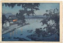 Hiroshi Yoshida Evening on the Chikugo River, Hita