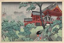 Takahashi Shotei (Hiroaki) Kiyomizu Temple at Ueno