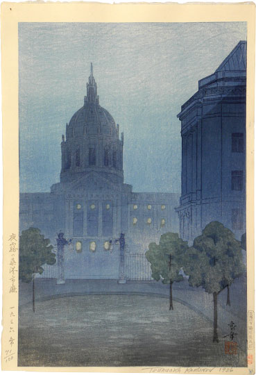 Night Mist Over San Francisco City Hall