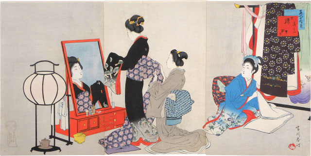 Miyagawa Shuntei November, Before the Mirror