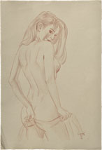 Paul Binnie Alluring Figure Preparatory Drawing