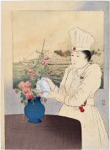 Takeuchi Keishu Nurse with Red Cross Hospital Ship