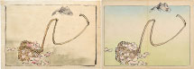 Shibata Zeshin Watercolor and print related to Butterfly and Cher…