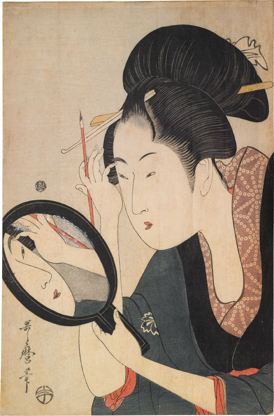 Kitagawa Utamaro Painting the Eyebrows