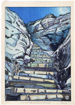 Paul Binnie The Steps at Black's Beach: Moonlight