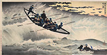 Kobayashi Kiyochika Our Troops Take Rongcheng Bay and Make a Landing