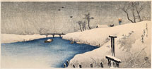 Takahashi Shotei (Hiroaki) Snow on Ayase River