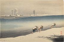 Uehara Konen winter landscape