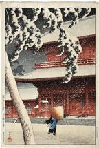 Kawase Hasui Shiba Zojo Temple