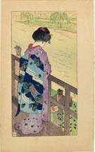 Nakazawa Hiromitsu Maiko on Veranda from Maisugata (Dancing Figure)