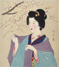 Kaburaki Kiyokata Beauty Under Blossoming Plum