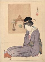 Ogata Gekko Writing a Letter