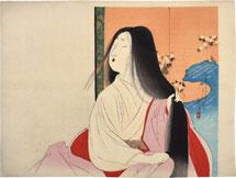 Tomioka Eisen Lady Kesa Cutting Her Hair
