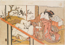 Isoda Koryusai Courtesan and Samurai at the New Year